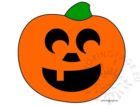 smiling pumpkin  coloring page