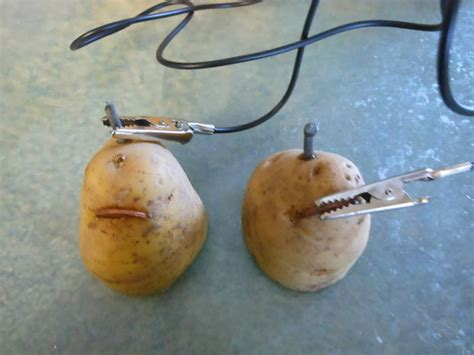 potato battery driven led all