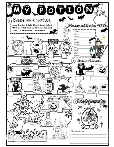 halloween printable worksheets festival collections