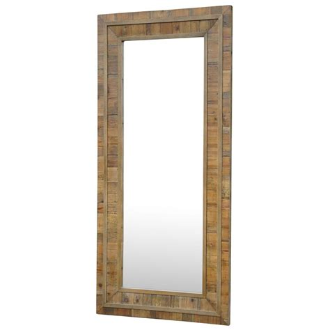floor mirror rustic leopold rustic lodge light reclaimed pine rectangle floor mirror kathy kuo home