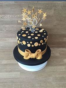 The 25 Best Black And Gold Birthday Cake Ideas On