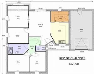 plan de maison 90m2 3 chambres With plan de maison plain pied avec 3 chambres