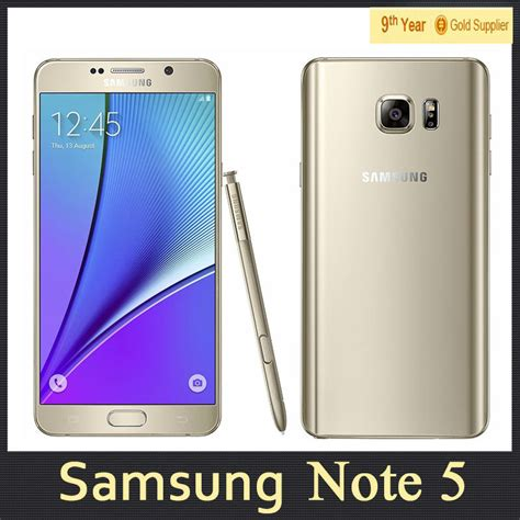 dual sim samsung galaxy note 5 note5 n9200 cell phone 4gb ram 32gb rom android 5 1 5 7 quot inch 1440