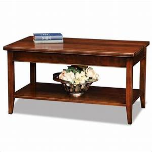 leick laurent small solid wood coffee table in chocolate With small cherry wood coffee tables