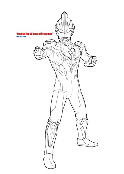 Coloring Ultraman Geed by Ultraman Mebius Colouring Book Coloring Page