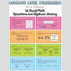 Free Common Core Math Standards Ataglance Sheets  I Heart Freebies  Pinterest  Common Core
