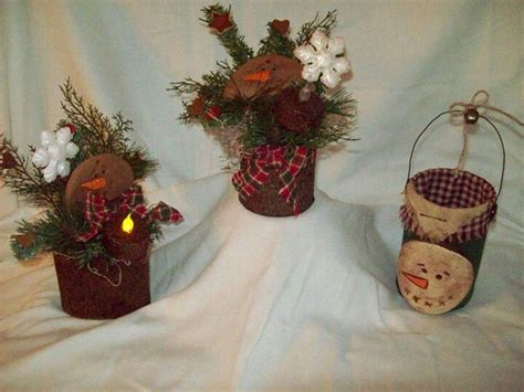 christmas primitive crafts pinterest