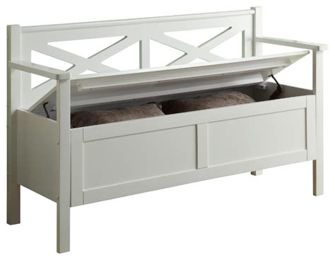 Accent Storage Bench by Storage Bench White Farmhouse Accent And