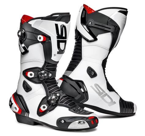 womens motorcycle race boots sidi mag 1 boots black white free uk delivery