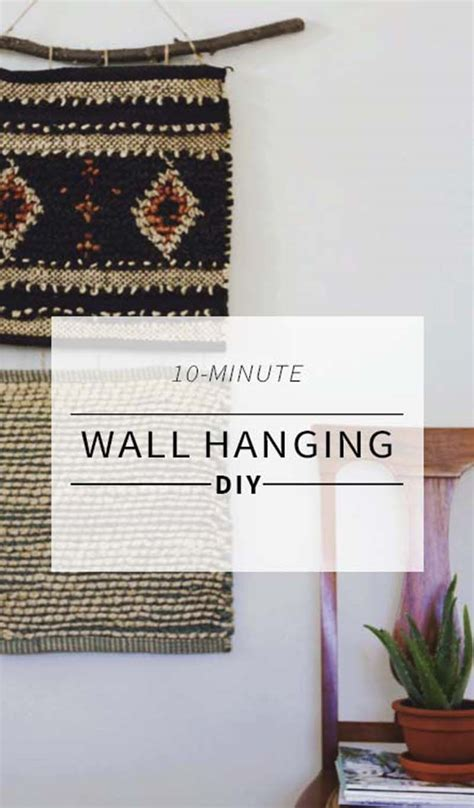 how to make a hanging l how to make a wall hanging without a loom annabode co