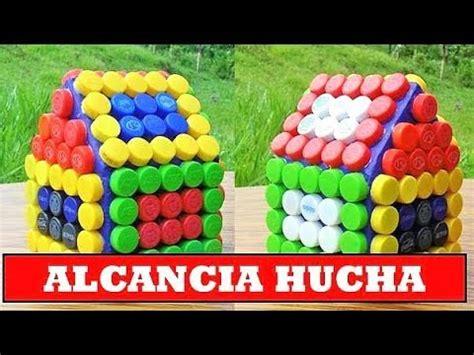 idea creativa con tapas de botellas plasticas