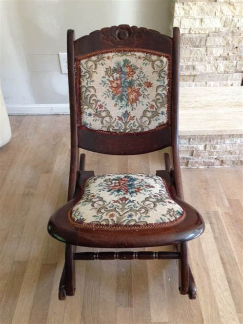 solid wood antique folding rocking chair