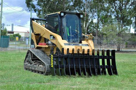 digga mm skid steer stick rake southern tool equipment  earthmoving machinery