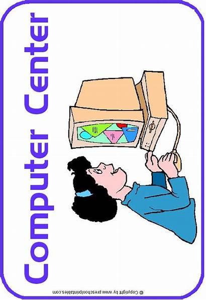 Center Signs Clipart Centers Computer Labels Preschoolprintables