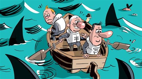Sinking Boat Surrounded By Sharks by Ways To Retain Your Clients Richtopia