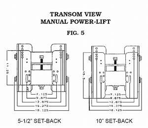 65012 Cook Mfg  Jack Plates Manual Power Lift Transom Jack