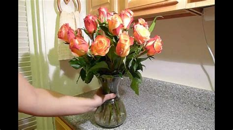 how to arrange flowers how to arrange roses in a flower vase youtube