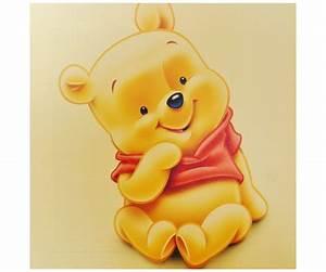 tableau toile disney enfant portrait winnie l39ourson bebe With déco chambre bébé pas cher avec envoi de fleurs Á domicile