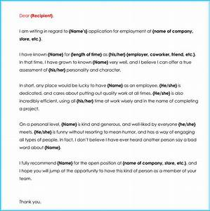 How To Write A Letter Of Character Reference Sample Reference Letters For Job Character Lease And
