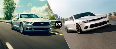 2015 Mustang Vs 2015 Camaro by 2015 Ford Mustang Gt Vs 2015 Chevy Camaro Ss