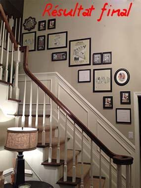 mise en cadre photo terminee deco cage escalier deco