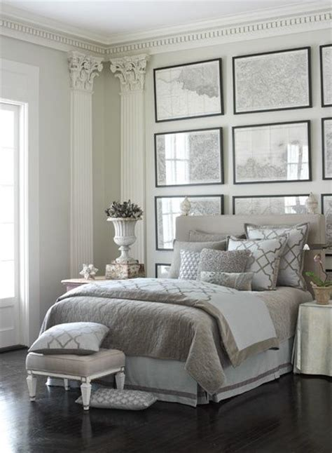 Luxe Grey And White Bedroom Frame Wall Decor Sophisticated