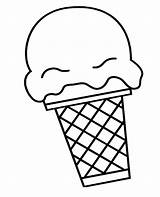 Ice Cream Scoop Cone Coloring Drawing Snow Icecream Pages Getdrawings Printable Getcolorings sketch template