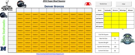 The Cyclone Edition Printable Superbowl Squares 2014