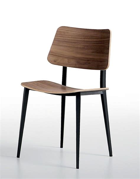 chair made of metal and wood for kitchens and living
