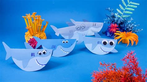 finny  family swimming shark craft super simple