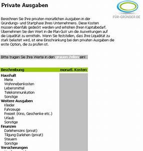 Kapitalbedarf Berechnen : private ausgaben f r existenzgr nder ~ Themetempest.com Abrechnung