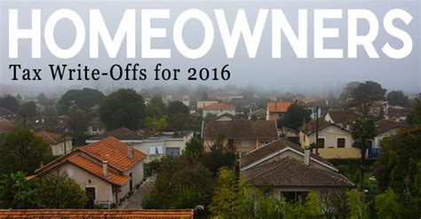 2016 Tax Writeoffs For Homeowners  800 Buy Kwik