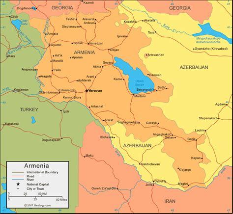 armenia map  satellite image