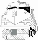 Trens Mta Colorir sketch template