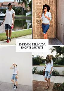 20 Outfits With Denim Bermuda Shorts u2013 OBSiGeN