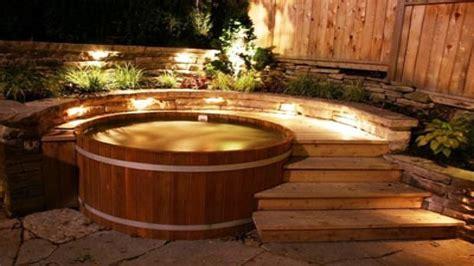 Hot tub decor, cedar hot tub wood fired hot tub kits