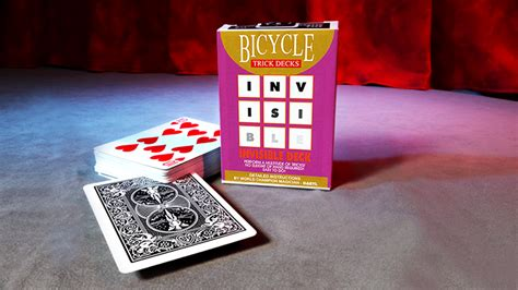 bicycle invisible deck trick invisible deck bicycle black trick tricksupply