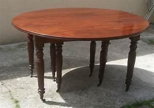 Table De Salle : grande table manger en acajou massif epoque restauration 5 allonges magasin pierre brost ~ Teatrodelosmanantiales.com Idées de Décoration