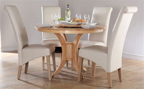 dining room table 4 chairs round dining table set for 4 homesfeed