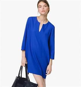robe bleu electrique massimo dutti mode pinterest With robe bleu electrique zara