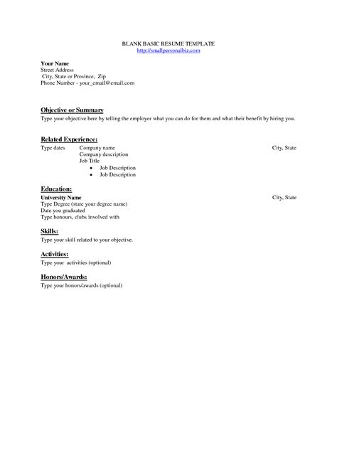 free pdf resume templates printable basic resume templates basic resume templates