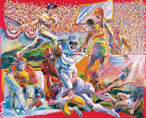 team sports  inches original oil painting  wood