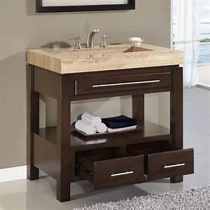 "36"" Perfecta PA-5522 Bathroom Vanity Single Sink Cabinet"
