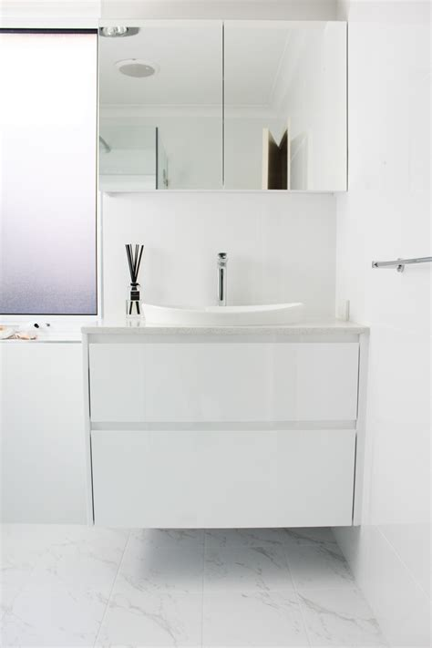 white bathroom mirror cabinet wall hung vanity floor