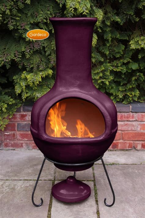 colima mexican chiminea aubergine jumbo chimineashop