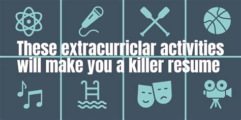 List Of Extracurricular Activities For Resume by These 10 Extracurricular Activities In Resume Will Land