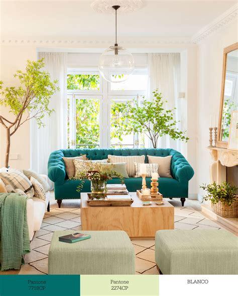 sofa verde de que color las paredes tr 237 os de colores que transforman tu sal 243 n