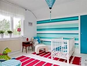 Wand Stellenweise Streichen : wand streichen ideen und tipps zu muster abkleben 65 beispiele ~ Watch28wear.com Haus und Dekorationen