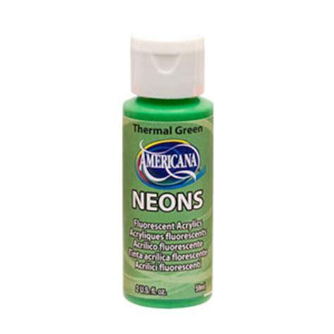 deco americana neons themal green fluorescent acrylic