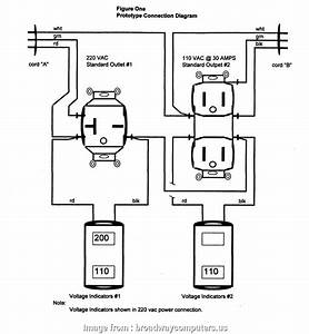 110v Electrical Outlet Wiring Most 220 To  Wiring Diagram